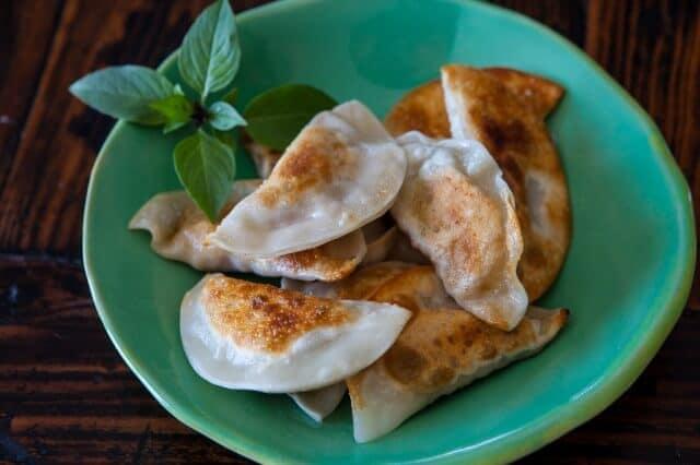 Mushroom Tofu Potstickers Recipe