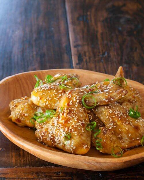 wings on plate