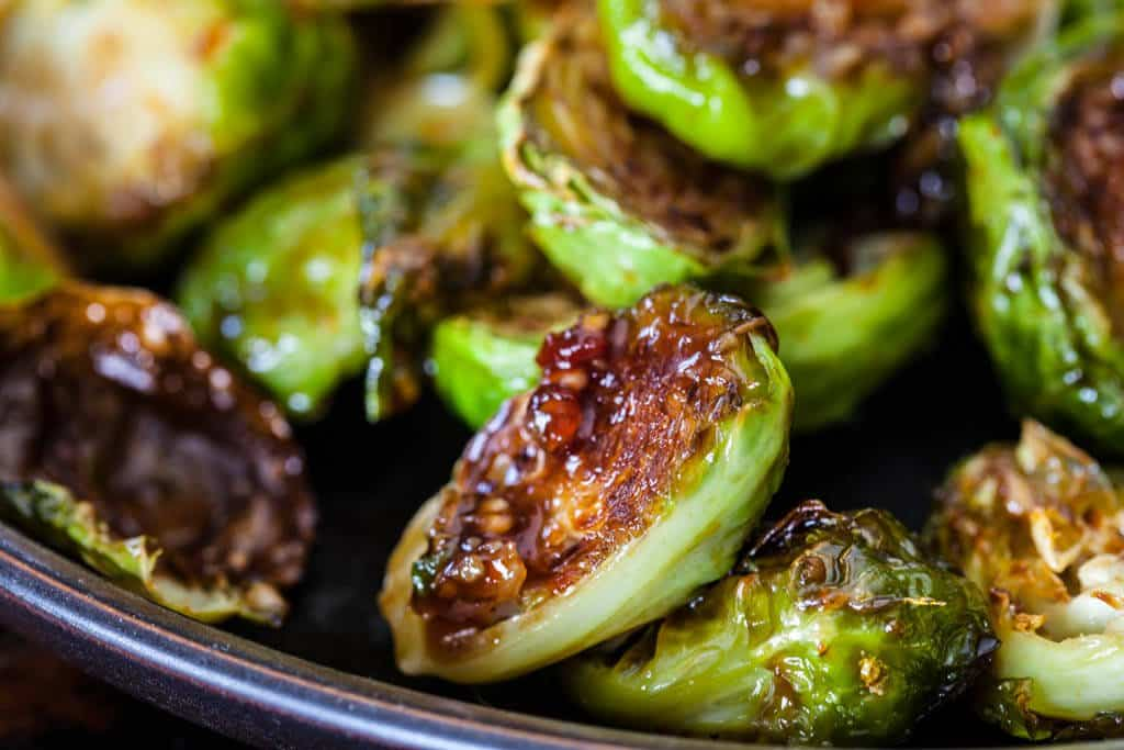 Roasted Brussels Sprouts with Sweet Chili Sauce Recipe