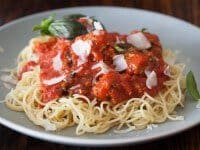spaghetti with turkey tofu meatballs recipe featured-9594