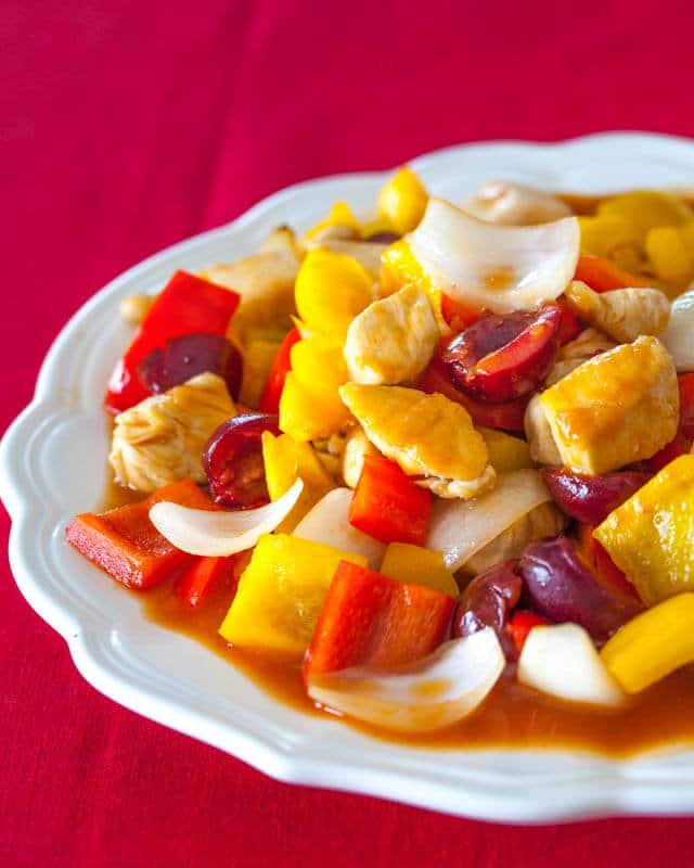 sweet and sour chicken cherries recipe featured-9533