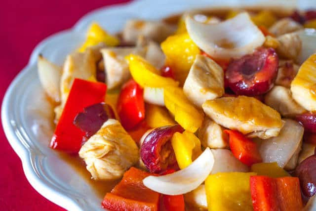 sweet and sour chicken cherries recipe featured-9535