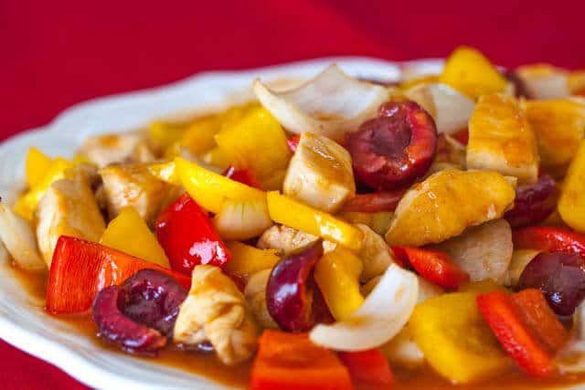 sweet and sour chicken cherries recipe featured-9545
