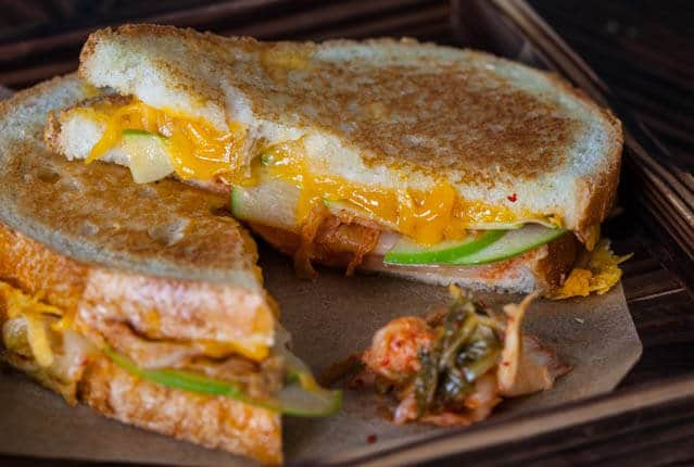 Grilled Kimcheese Sandwich • Steamy Kitchen Recipes