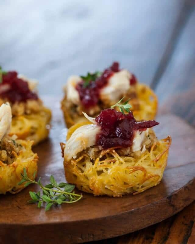 Thanksgiving Tofu Pasta Nests Recipe