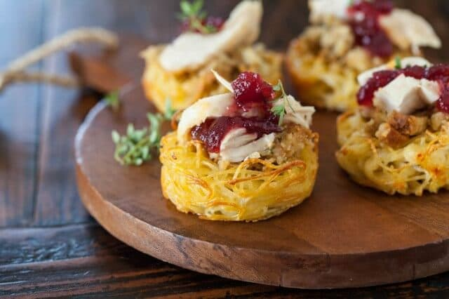 Thanksgiving Tofu Pasta Nests Recipe