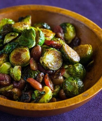 Roasted Brussels Sprouts and Grapes featured-0388