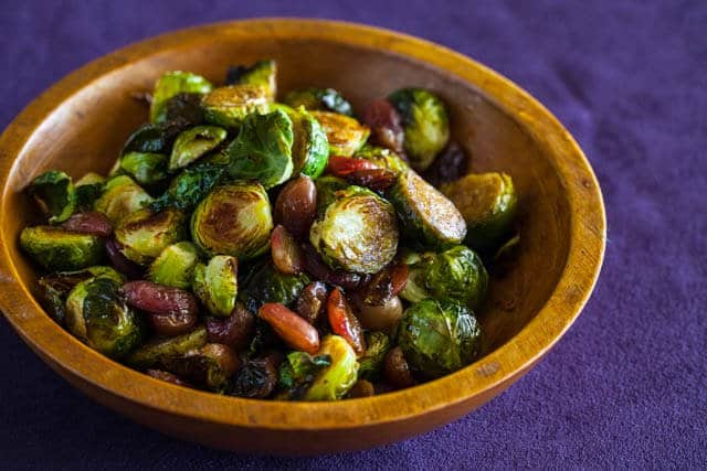 Roasted Brussels Sprouts and Grapes • Steamy Kitchen Recipes