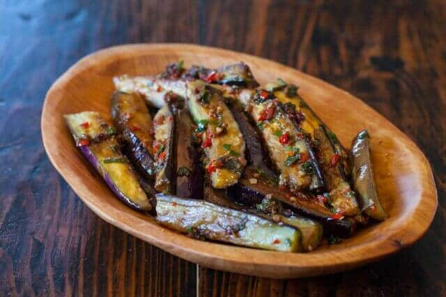 Chinese Eggplant Stirfry with Spicy Garlic Sauce Recipe