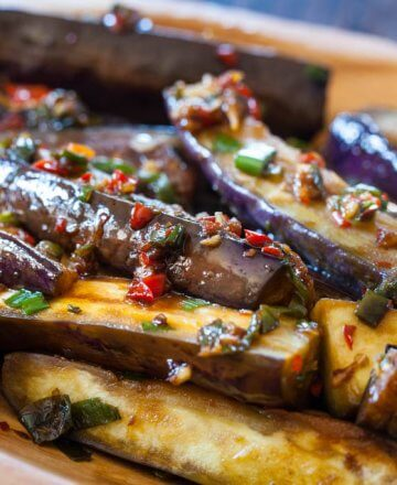 chinese eggplant stirfry with spicy garlic sauce recipe-0504