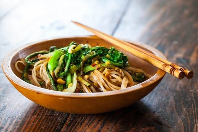 Satay Noodles and Greens Recipe