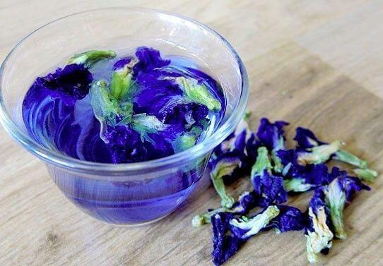 тайский синий чай с лемонграссом