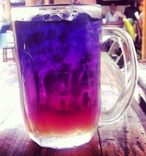 BlueChai Tea with lemon juice