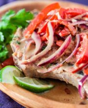 Thai Pork Chops in Ginger Coconut Sauce Recipe