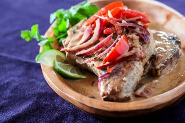 Healthy Thai Pork Chops in Ginger Coconut Sauce