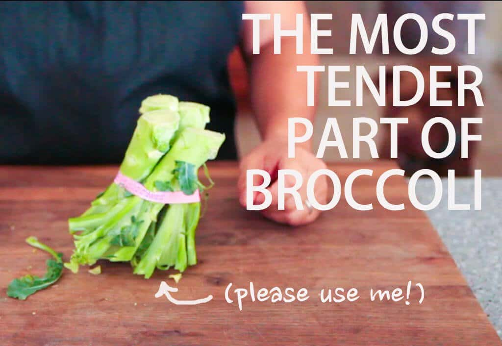 Are You Throwing Away the Most Tender Part of Broccoli? • Steamy Kitchen Recipes