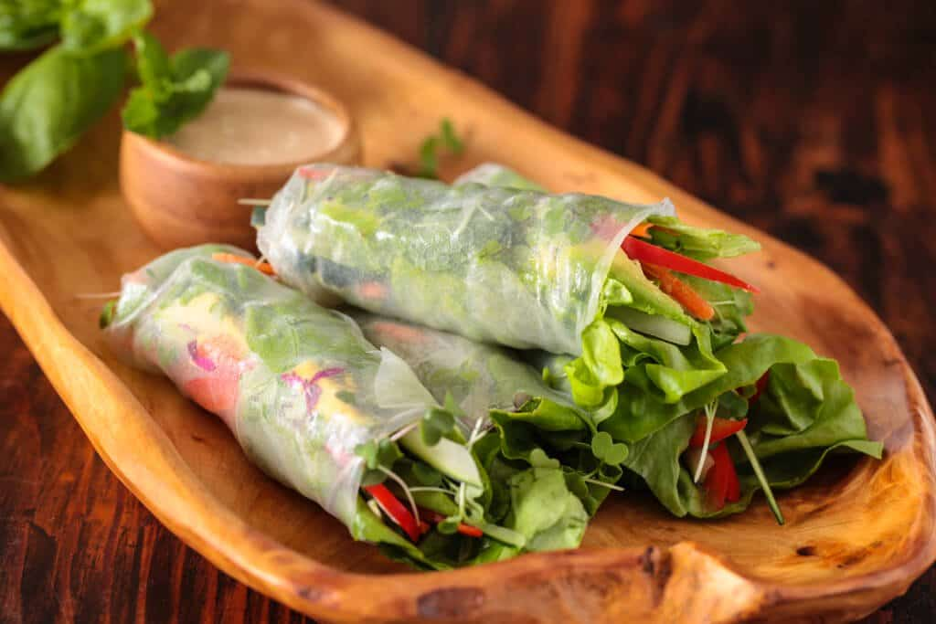 Vietnamese Spring Rolls With Orange Almond Sauce Steamy Kitchen Recipes Giveaways