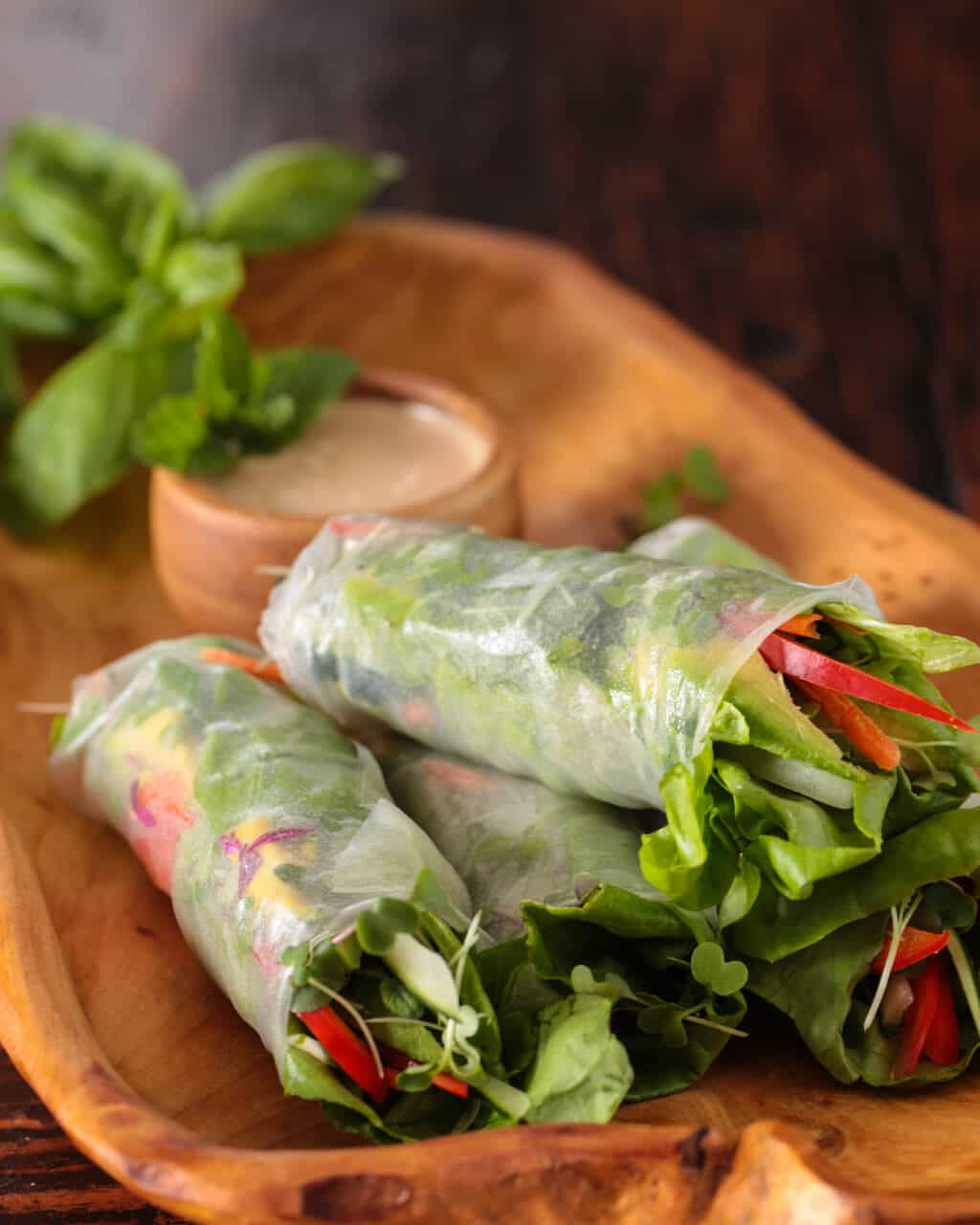 spring rolls with orange almond sauce recipe-1663