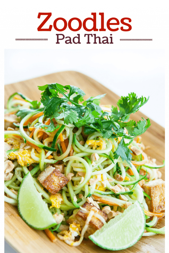 Pad Thai Zoodles Recipe - Steamy Kitchen Recipes