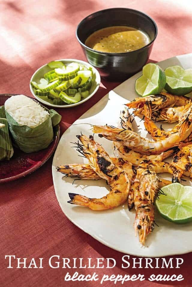 Thai-Grilled-Shrimp-with-Black-Pepper-Sauce