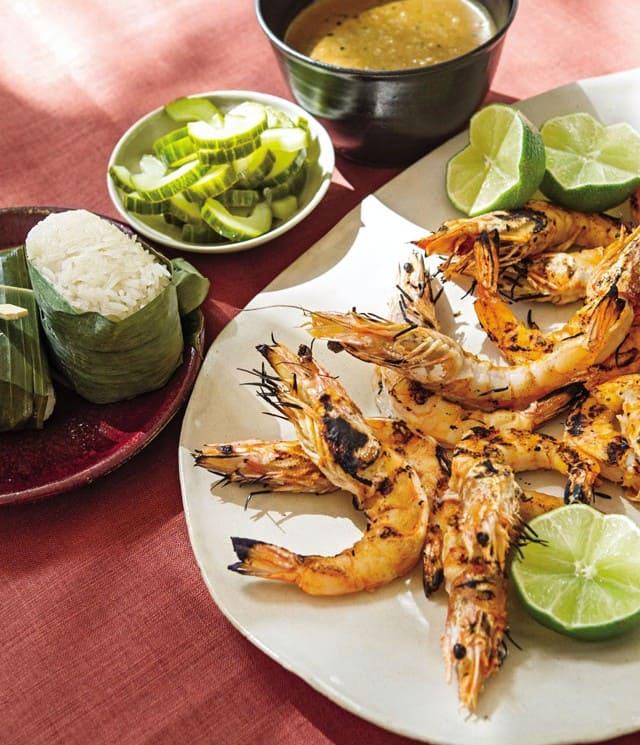 Thai Grilled Shrimp with Black Pepper Sauce Recipe
