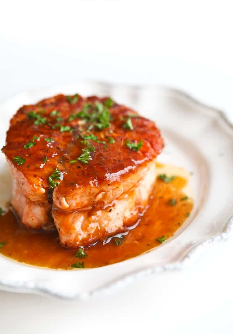 Seared Salmon with Magical Butter Sauce