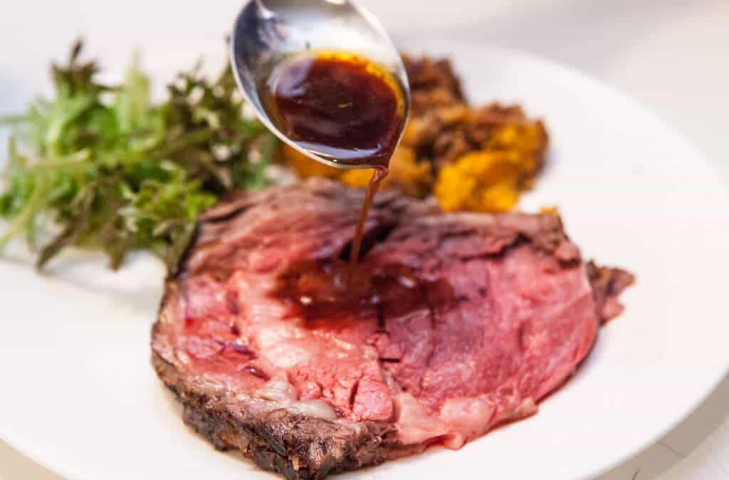 Perfect Prime Rib Roast With Red Wine Jus Recipe — Dishmaps