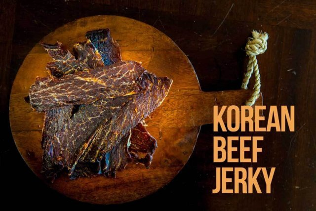 top down shot of Korean Beef Jerky