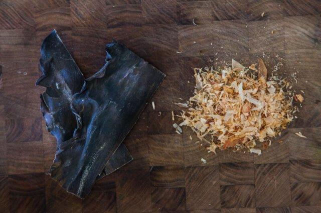 Slow Cooker Bone Broth Recipe - Asian dried kombu and bonito flakes