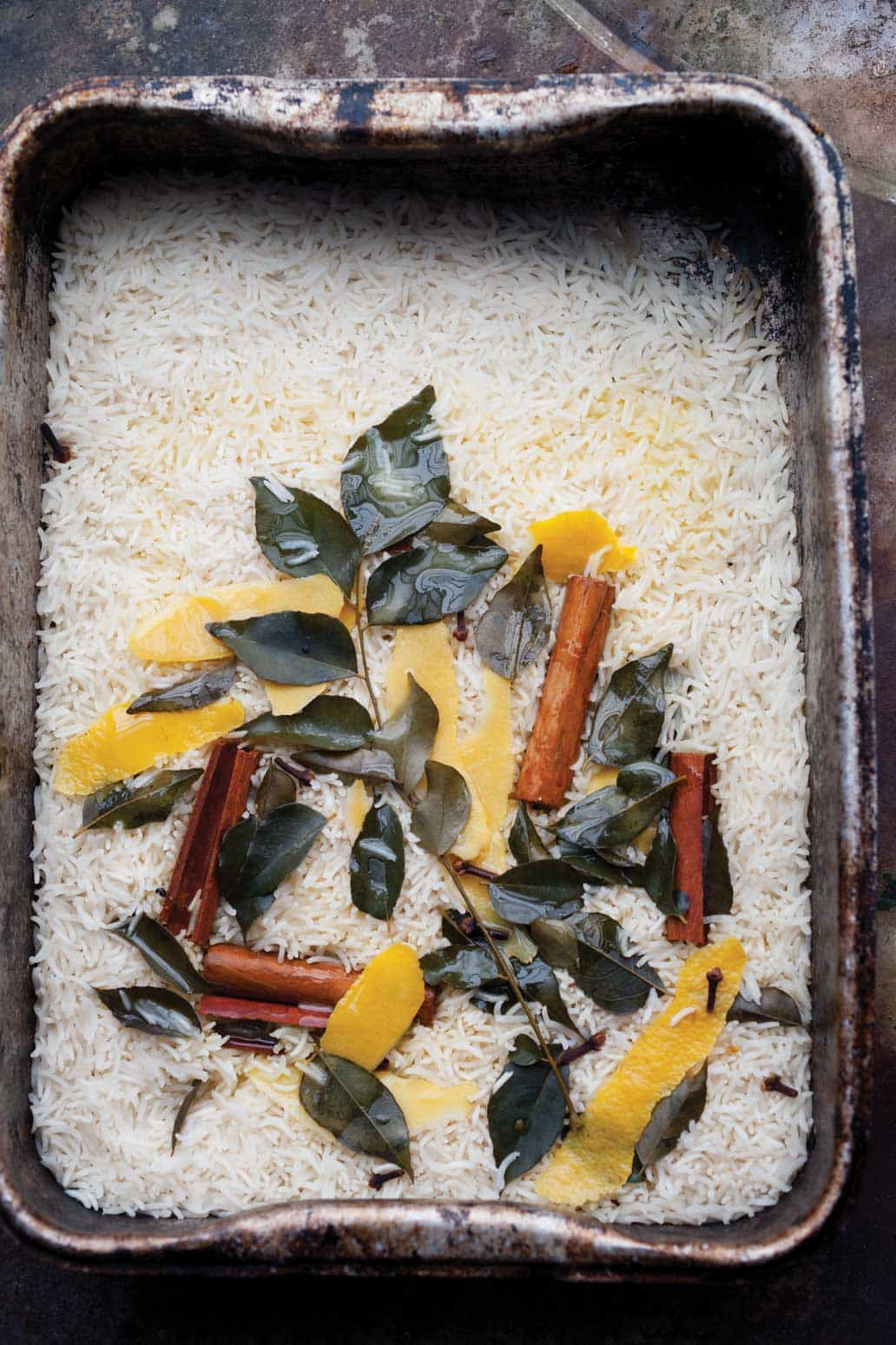 Lemon, Cinnamon and Curry Leaf Basmati Rice