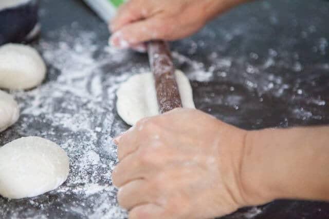 rolling folded dough