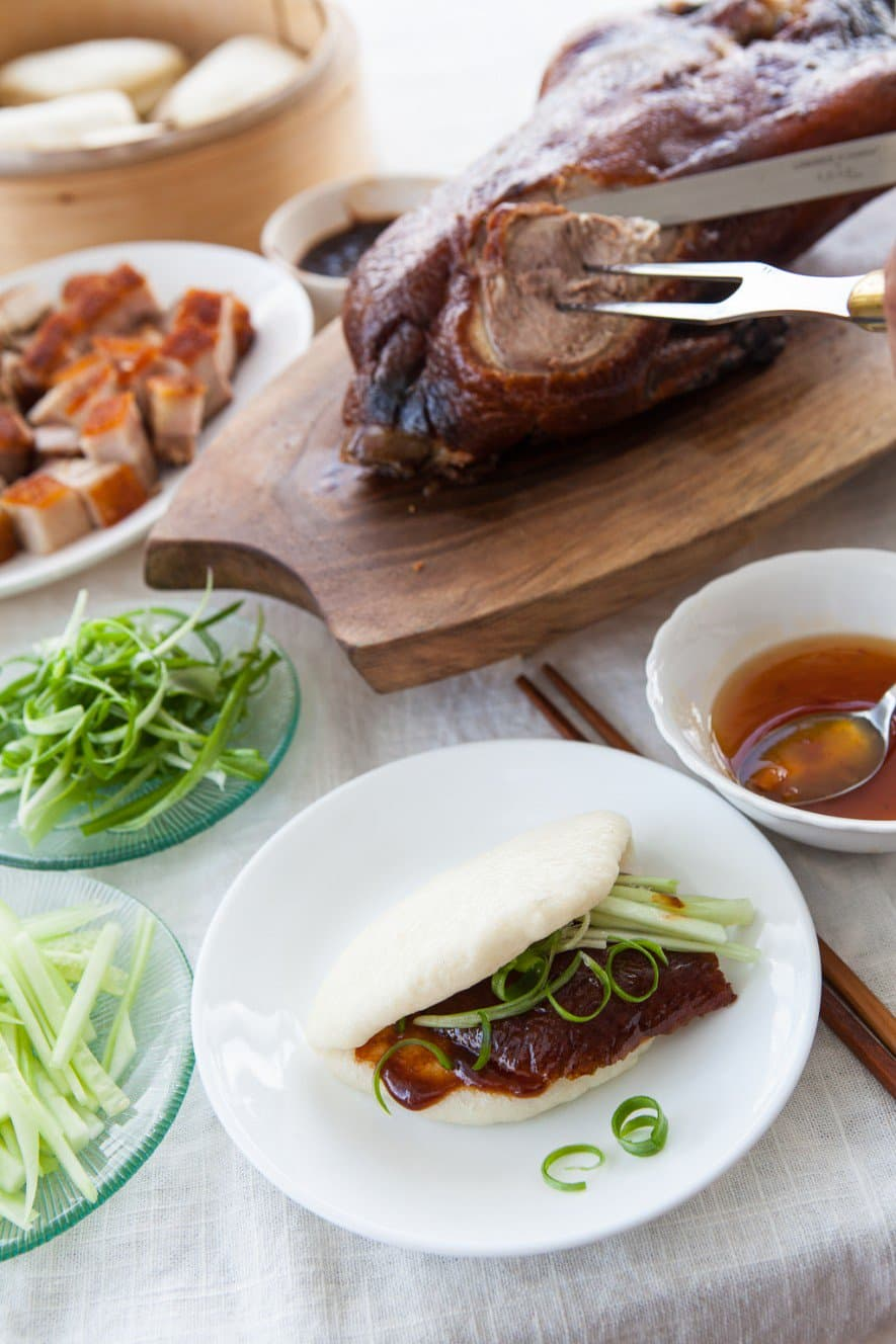 year chinese barbecue pork buns char siu bao steamed buns with tempura ...