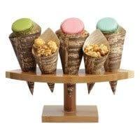 Crescent Bamboo Cone Stand