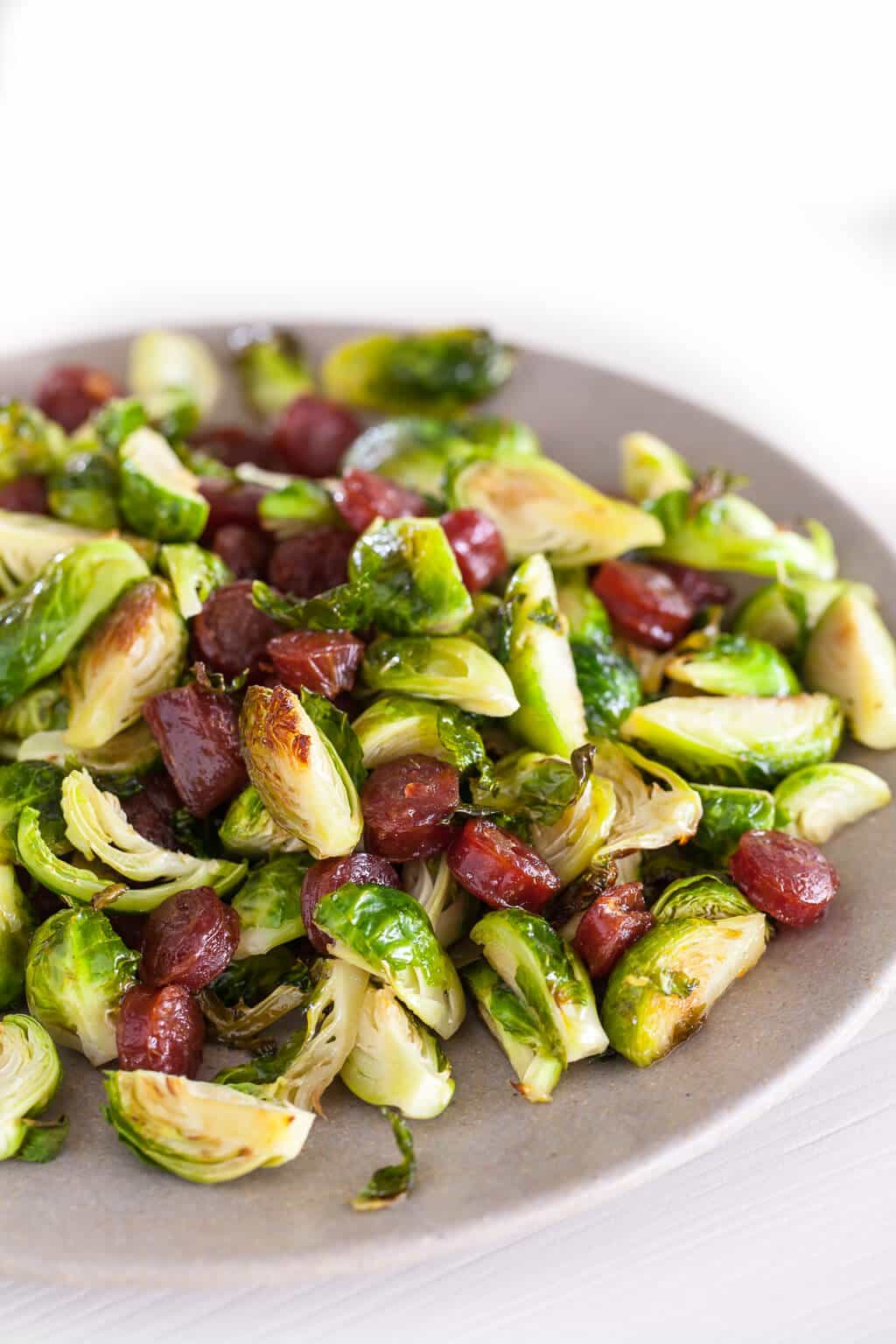 Roasted Brussels Sprouts with Chinese Sausage Recipe