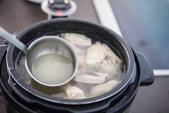 light broth in pot