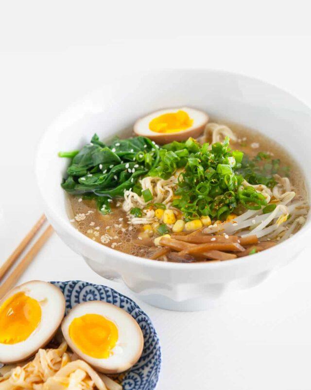 instant pot Ramen Recipe in bowl