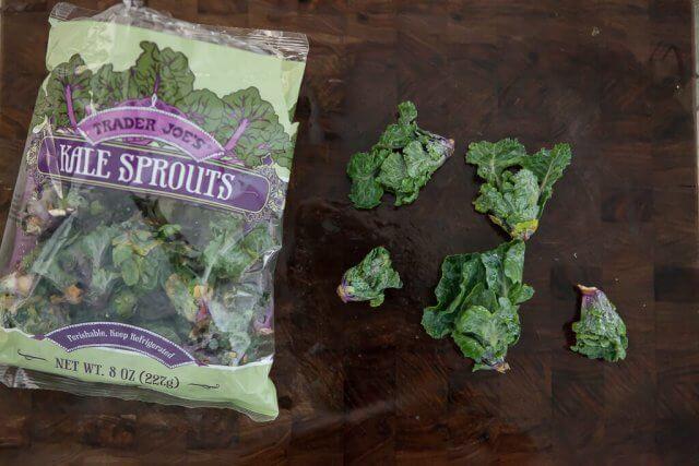 Roasted Kale Sprouts Kalette Garlic Recipe