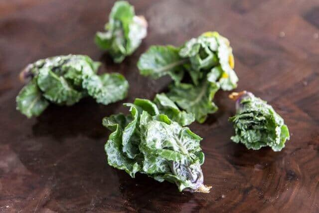 Roasted Kale Sprouts Kalette Garlic Recipe