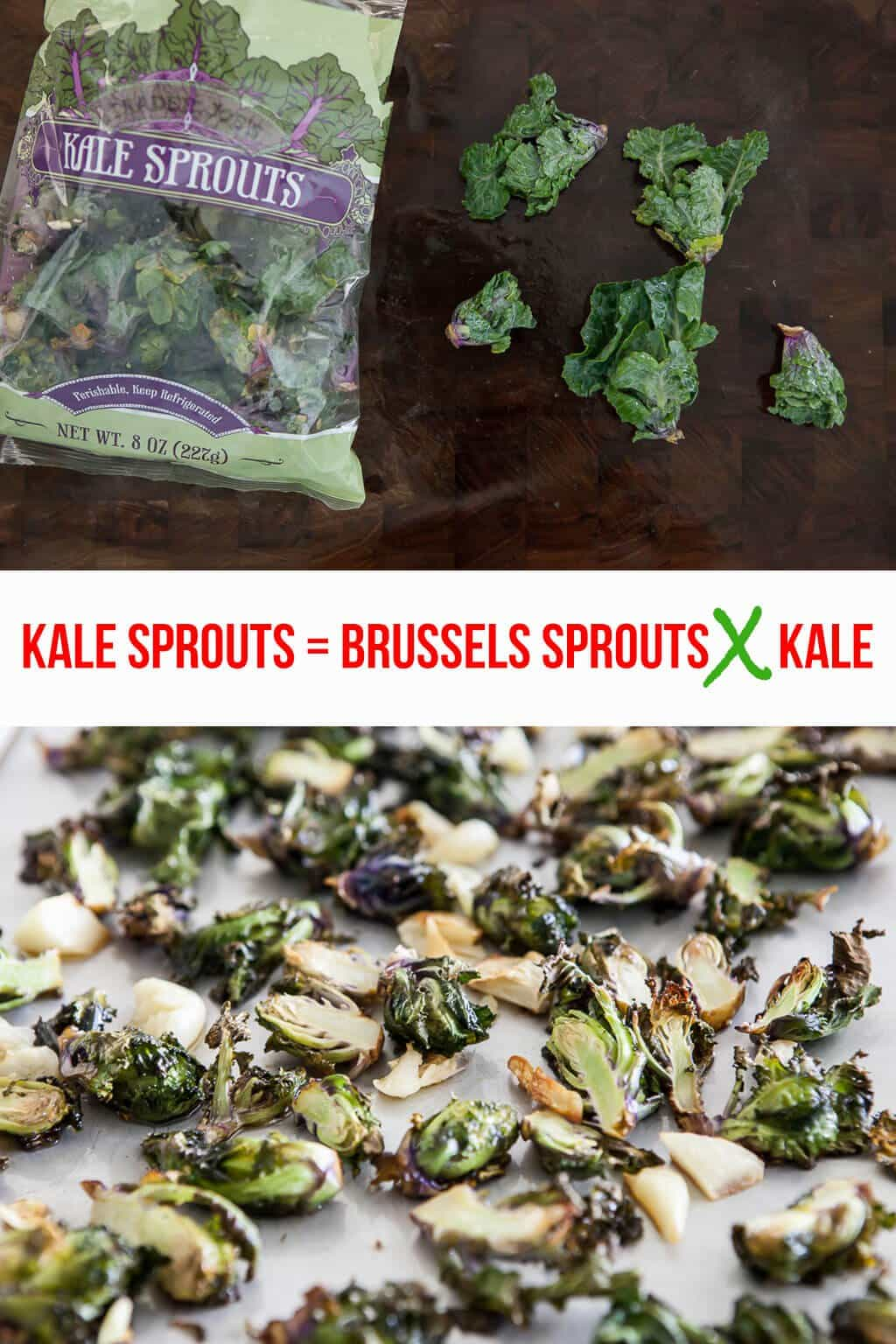 Kale Sprouts with Roasted Garlic and Parmesan