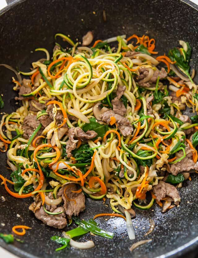 spiralized zucchini noodles japchae korean recipe-5083