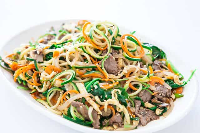 spiralized zucchini noodles japchae korean recipe-5095