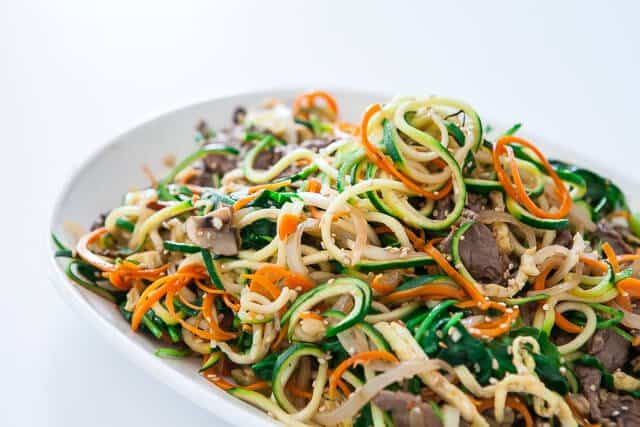 spiralized zucchini noodles japchae korean recipe-5096