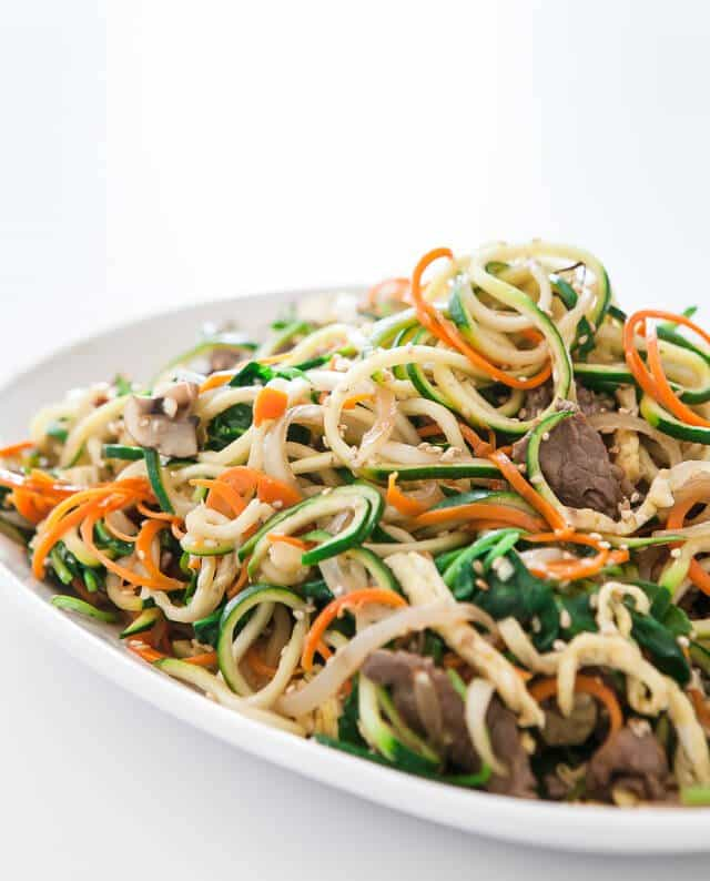 spiralized zucchini noodles japchae korean recipe-5097