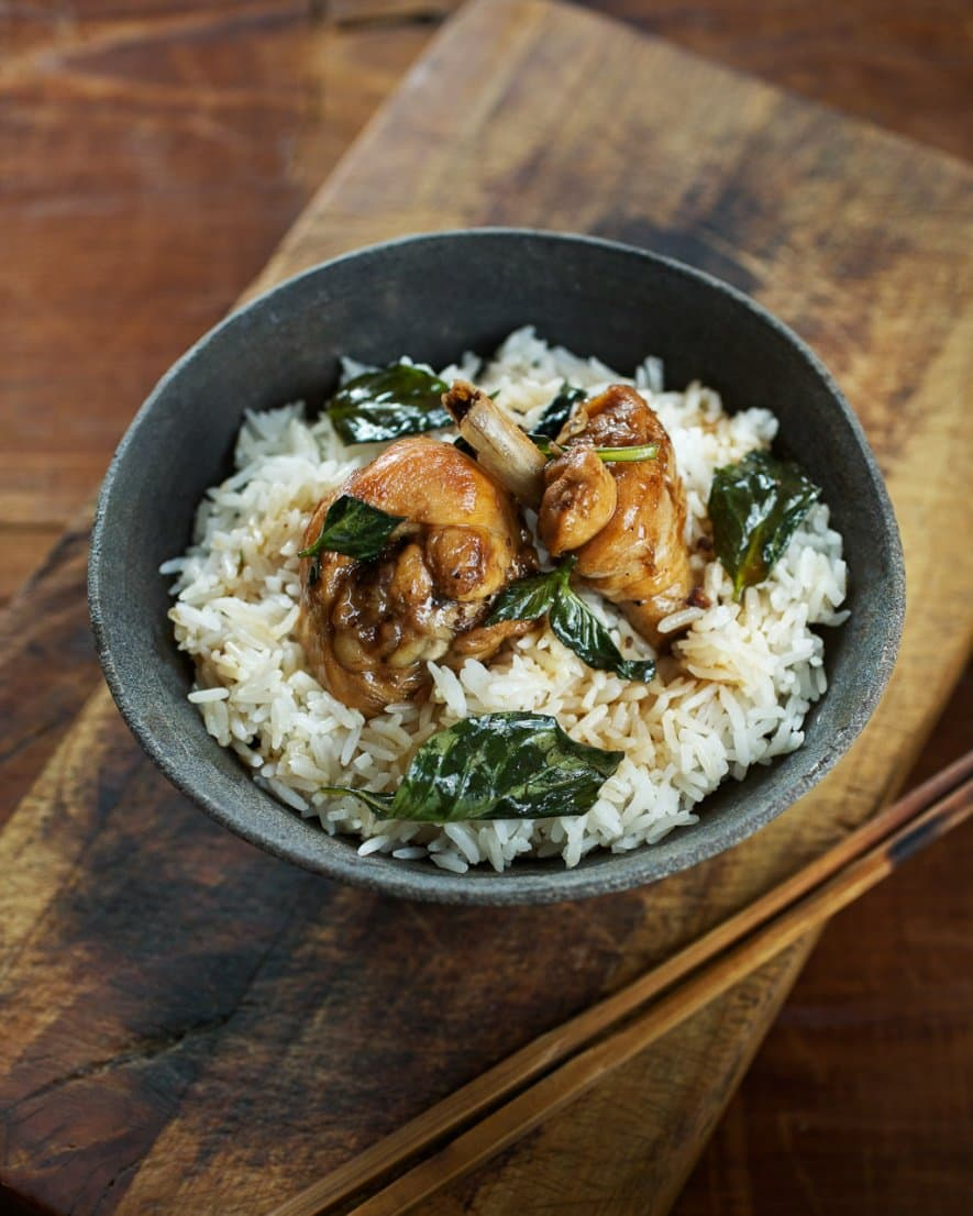 Three Cup Chicken Recipe from Phoenix Claws and Jade Trees Cookbook