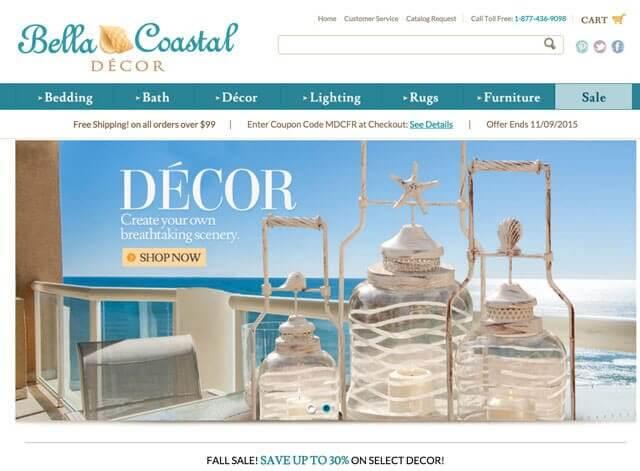bella coastal website - Coastal Decor