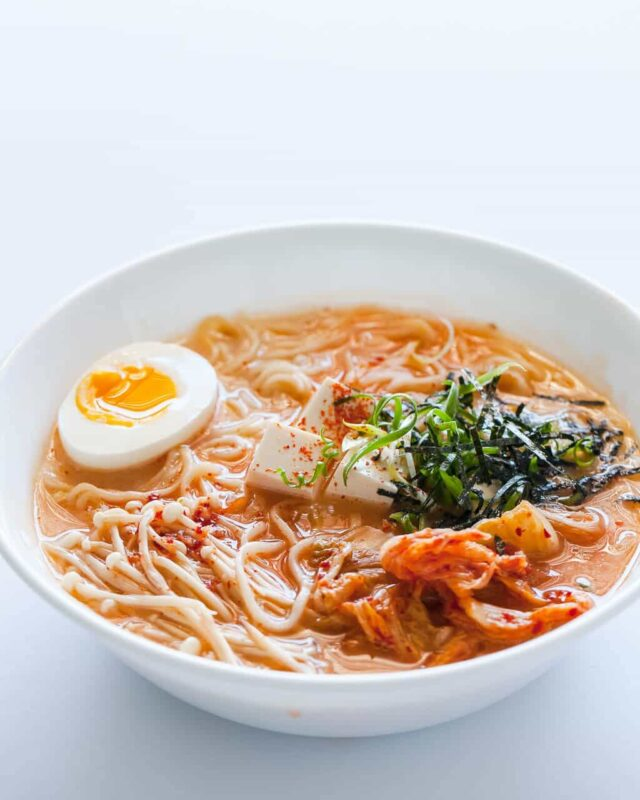 Kimchi Ramen Recipe from Steamy Kitchen