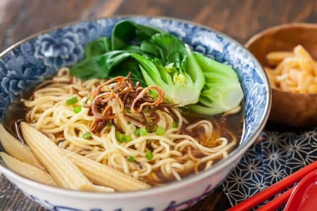 Noodle Soup With Baby Bok Choy Amp Crispy Shallots Recipe