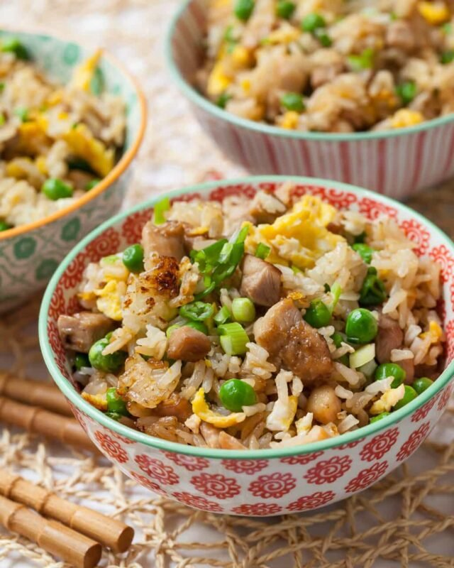 Chicken fried rice recipe learn how to cook light fluffy fried rice chicken fried rice ccuart Gallery