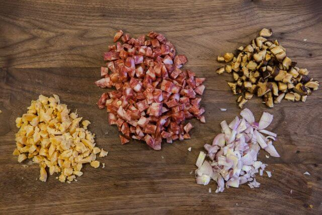 chinese sausage brown rice pressure cooker recipe-5909