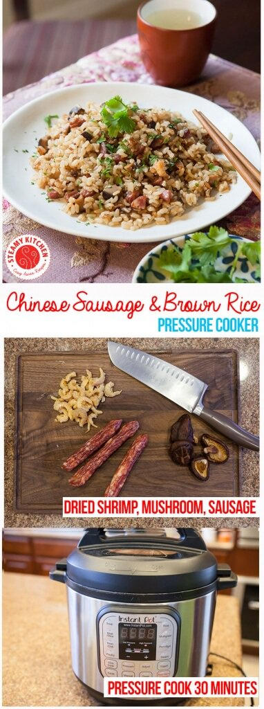 Pressure Cooker Recipe Chinese Sausage Brown Rice